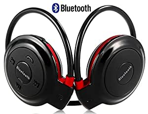 Micromax Bolt A61 Compatible Neckband Mini Wireless Sport Bluetooth Headset/headphone Music Stereo Bluetooth Earphone Micro SD Card Slot by M-STARK