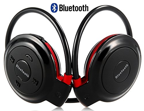 Lenovo Lemon 3 Compatible Neckband Mini Wireless Sport Bluetooth Headset/headphone Music Stereo Bluetooth Earphone Micro SD Card Slot by M-STARK