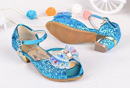 OPSUN Sandales Chuaussures princesse Enfants Filles Ballerines à bride Chaussure Cérémonie Mariage Escarpin Babies Bleu