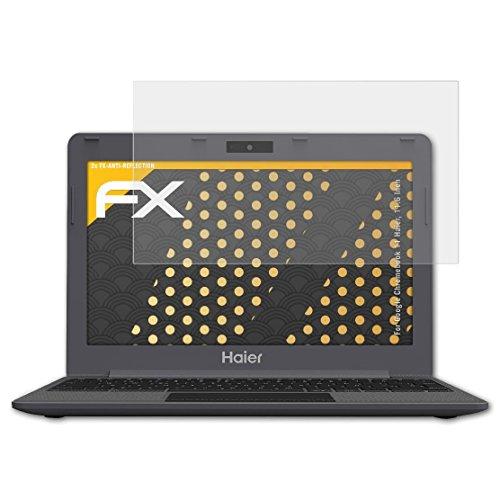 atFolix Panzerfolie kompatibel mit Google Chromebook 11 Haier, 11.6 Inch Schutzfolie, entspiegelnde & stoßdämpfende FX Folie (2X)