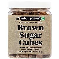 Urban Platter European Style Brown Sugar Cubes, 700g / 25oz [Half Teaspoon Sized Cubes, Rough Cut, Approx 200 Cubes]