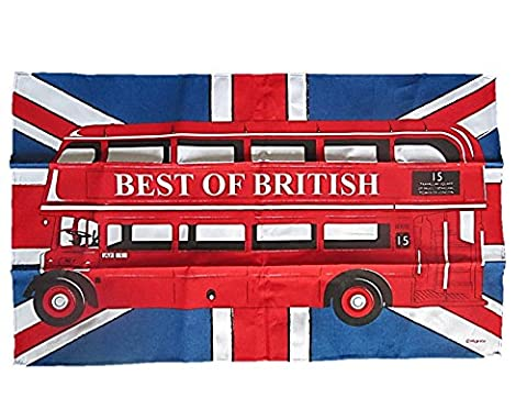 Bus Imperial - 100% coton, Union Jack & Bus à