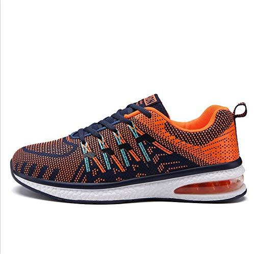 Exing Herrenschuhe Casual Sneakers/Lovers Outdoor-Reise-Schuhe/Fall New Air-Kissen Sporttrainer/Running, Fitnessgeräte, Sport-Trends (Farbe : C, Größe : 43)