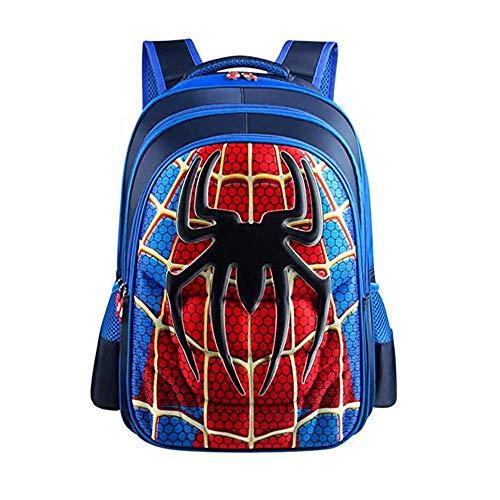 Superman Batman Spiderman Captain America Boy Girl Kinder Kindergarten Schultasche Teenager Kinder Student Rucksäcke, Blue L Spider-Man 2 (Blau) - Wen FENG-A230 Captain Girl