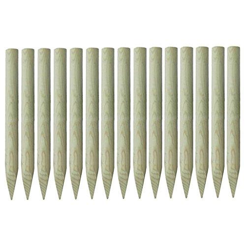 Preisvergleich Produktbild vidaXL Angespitzte Zaunpfähle 15 Stk. Kiefer 4x100cm Holzpfosten Zaunpfosten