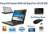 Professionally Refurbished Cheap Dell Latitude D630 Laptop with Brand New Fast 120 SSD (Solid State Drive),Free Wifi Mouse, 2GB Ram, Window 7 Professional Preloaded. Perfect for Home or Business Use.