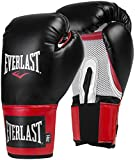 Everlast Pro Style Training, Guanti Uomo, Black / Red, 14 Oz