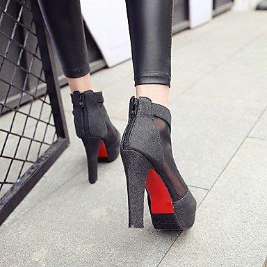 Talloni delle donne Primavera Estate Autunno Club scarpe personalizzate Materiali casual tacco grosso paillettes Nero Argento Oro Black