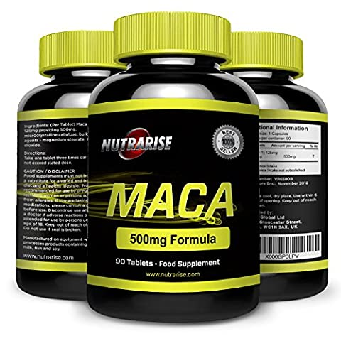Pure Maca Root Extract, Promotes Reproductive Health and Fertility, Increases Libido in Men and Women, Made in the UK, 500 mg - 90 Capsules