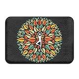 huyf743no odio Meditación Yoga Fitness diseñado Felpudo–Felpudo de entrada (Floor Mat Alfombra para interiores/exteriores/puerta delantera/baño alfombrillas de goma antideslizante
