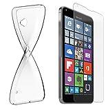 Schutzhülle und Glasfolie als Set für Nokia Lumia 625 TPU