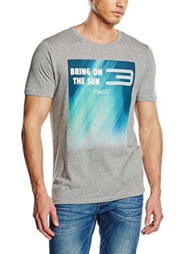 Jack & Jones Maglietta da uomo cpain a maniche corte, scollo rotondo, Uomo, T-Shirt Cpain Tee Short Sleeve Crew Neck, luce grigio melange, L