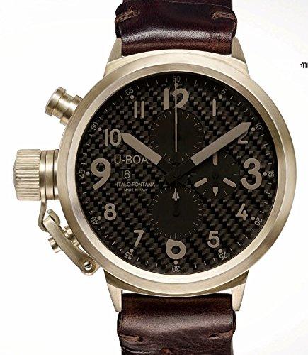 7106u-boat Flightdeck orologio da uomo quadrante nero movimento automatico
