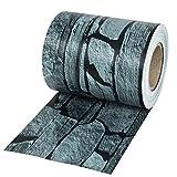 TecTake PVC Sichtschutzfolie Sichtschutzstreifen inkl. Befestigungsclips 450g/m² - Diverse Modelle - (35m Schiefer | Nr. 401870)