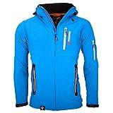 Geographical Norway Chaqueta para exteriores con tejido Softshell para hombre, color azul, tamaño S