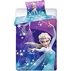Reine des neiges - Parure de lit - Housse de Couette - lit 1 Place