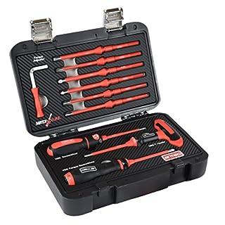 Armeg SDSBSET001FL Fully Loaded VDE Adjustable Torque Screwdriver Set - Black/Red (13-Piece)
