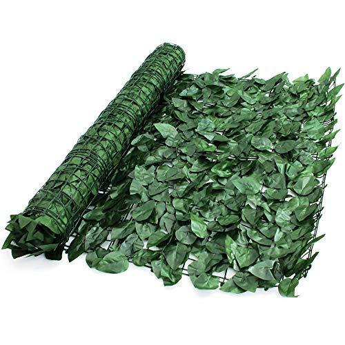 True Products Ivy 1x 3m Wonderwal Künstliche Ivy Leaf Heckenschere Platten auf Rolle Sichtschutz Zaun-Grün