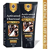 Mountainor Activated Charcoal Peel Off Black Mask - Blackhead whitehead remover, Deep Pore