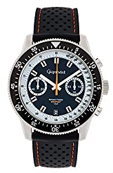 Gigandet Mens Quartz Watch Speed Timer Chronograph Analog Silicone Strap Silver Blue G7-001