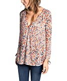 Esprit 085EE1F022 - Blouse - Taille normale - Manches longues - Femme
