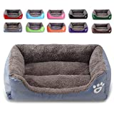 REXSONN® Hundebett kuscheliges, waschbares Hund Bett Hundekissen Hundesofa Hundekorb Hundehöhle hundehütte Katzenbet Tierbett Pet Dog Cat Bed Cushion (L: 21