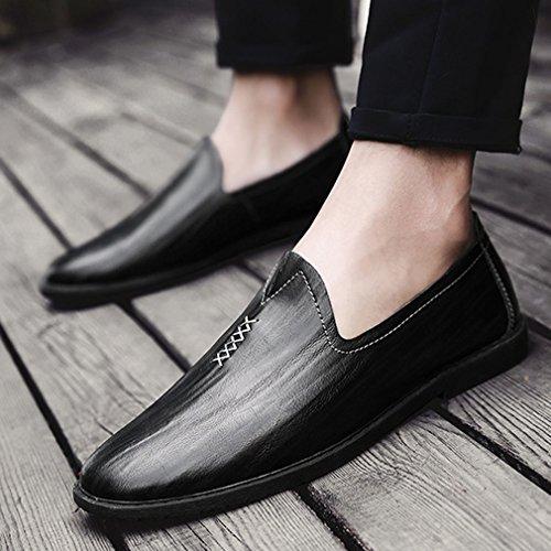 Xianshu Soft Flâneurs Enfiler plat Chaussures Noir