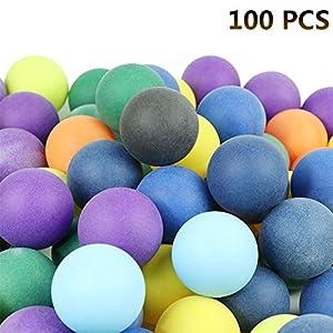 Sue-Supply 100 Stücke 40mm 2,4g Farbige Ping Pong Bälle Unterhaltung Tischtennisbälle Mischfarben für Spiel und Werbung