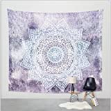 Home Decor Wall Hanging Purple Snowflake 7 Pattern Tapestry for Bedroom Living Room Dorm Apartment 79 L x 60 H inches (L, Z7)