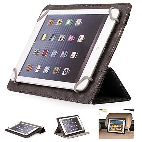 Mulbess - Universal 7 / 8 Zoll (22 cm x 13.5 cm) Tablet-PC CleverStrap Flip LederHülle Tasche Schutzhülle Etui mit Standfunktion (Für Apple iPad mini Retina,Samsung Galaxy Tab/Pro/S 3/4 7.0 8.0 8.4 ,Acer Iconia B1/A1/W4,LG G Pad 8.3,Lenovo ideaTab/Yoga,Asus MeMo Pad HD,Google Nexus,Medion LifePad S7852/S7851/E7315/E7318,Odys Connect 7 Pro/Connect 8+/Titan/Study Tab/Pedi Plus/Aria/Pro Q8 ,Intenso Tab 824/814S,Trekstor SurfTab Breeze/Ventos) Farbe (Mini Wrap Around Wrap)