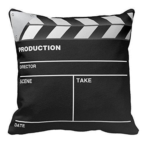qianduoduoa Movie Maker Clap Board Black Linen Throw Pillow Case Cushion Cover Home Sofa Decorative 18 X 18 Inch.