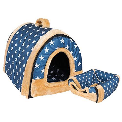 GODGETS Hundebett Katzenbett Hundehöhle Hundehütte Tragbar Outdoor/Indoor,(Kennel + Mat) 11,M (45 * 38 * 36 cm)