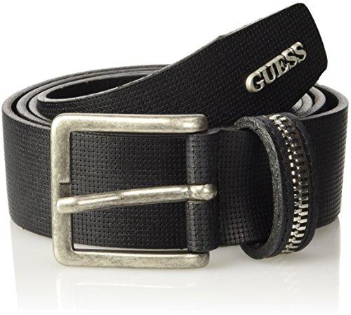 GUESS, EXPOSED ZIP BELT - M63Z32L0GR0 - Cintura da uomo, colore a996 noir/jet black a996, taglia S