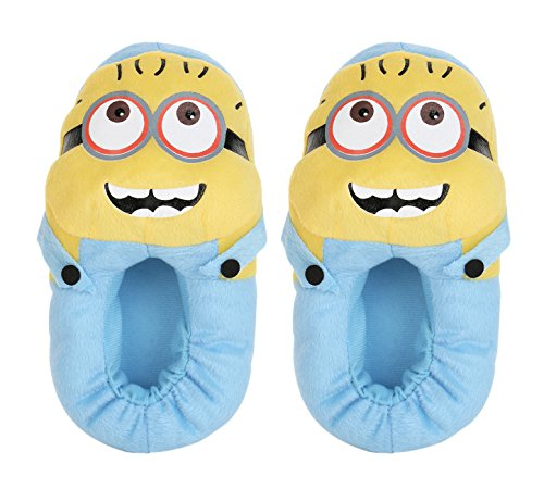 Care Case Minion Shoes Minion Plush Slippers Toy - Minion Gifts (Fits Indian Size 5-8) Yellow And Blue