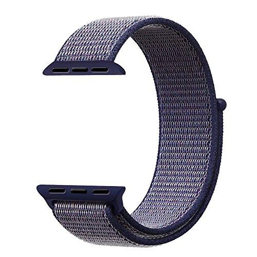 VODKER para Apple Watch Correa Bandas 38mm 42mm Nylon Correa de Reloj, Pulsera Nylon Loop de Reemplazo para Apple Watch Series 3 Series 2 Series 1 Sport SmartWatch Strap Band