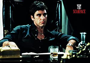 SCARFACE - Poster 170cm x 120cm XXL - TONY MONTANA Poster - gangster wallpaper - Goodfellas - Al Pacino Scarface - Say hello to my little friend - gangstar movie Wallpaper