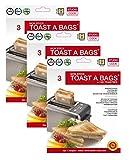 9 x Toastbeutel (3 Packungen met je 3 Buetel) - Beutel sind bis zum 50x Wiederverwendbar - Toast a Bags
