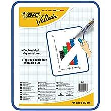 BIC Velleda Dry Wipe White Board 44 x 55cm Double-sided board