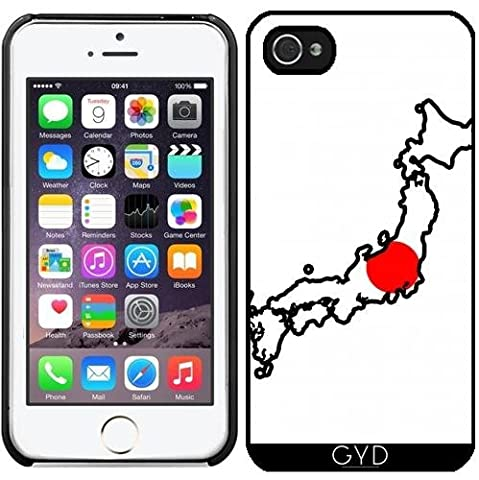 Coque pour Iphone 5/5S - Japon Carte De Drapeau by Cadellin