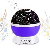 Zauberhafter Musikfunktion Sternenhimmel-Projektor Nachtlicht Lampe Einschlafhilfe für Baby