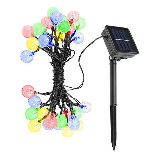 Impermeabile Solar Garden LED String luci esterne di Natale Fairy Garden Luce Alberi festa di (Bianca Leggiadramente Solare Luce)