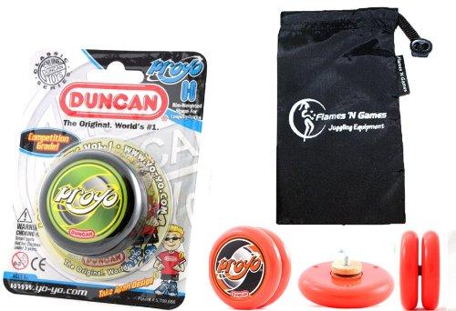 Duncan ProYo YoYo (Schwarz) Ideal Yo Yo für Anfänger + Stoff Reisetasche! Große YoYo für Kinder und Erwachsene! (Duncan Yo Yo Proyo)