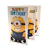 Despicable Me Minion Geburtstagskarte Ausklappen
