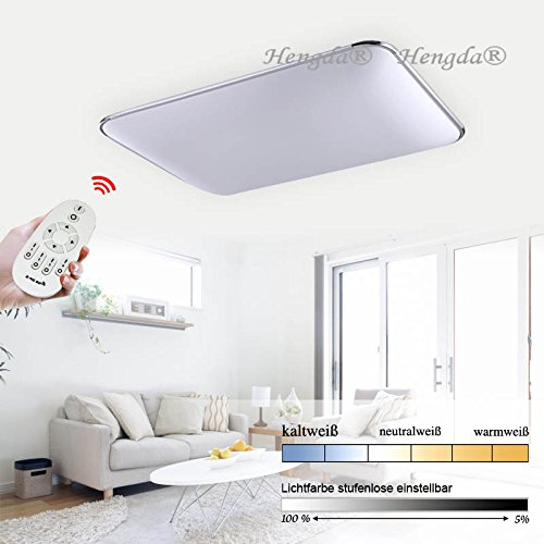 Hengda® 96W LED Deckenlampe IP44 Badezimmer geeignet Lampe ...