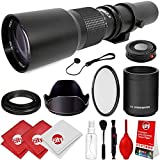 Opteka 500mm/1000mm f/8 Manual Telephoto Lens for Canon EF-M EOS M10
