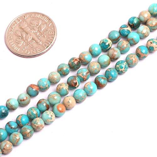 SHG-Shop Perlen Herrliche Crazy Lace Achat-Edelstein Runde Lose Korn Approxi 15 inch Pro Strang Für Schmuckherstellung(4mm, Ozean Blau) - Ozean-blau-korn