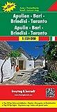 Freytag Berndt Autokarten, Apulien - Bari - Brindisi - Taranto, Top 10 Tips - Maßstab 1:150.000 (freytag & berndt Auto + Freizeitkarten)