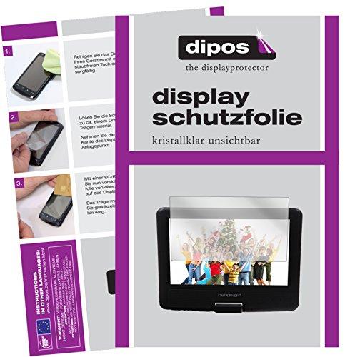 dipos I 3X Schutzfolie klar passend für DBPower 9,5 Zoll Tragbarer DVD-Player Folie Displayschutzfolie