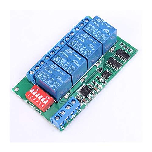4 Kanal RS485 Multifunktionale Verzögerung Relaismodul DC 12 V MODBUS at Anweisungen Fernbedienung Schalter RS485 Relais -