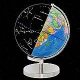 Baoblaze 2 in 1 Beleuchtete Weltkugel & Konstellationskugel Globus Dekoration Geschenk für Kinder, Freunde oder Familie - 30CM
